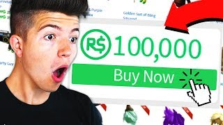 Download BUYING 100,000 ROBUX IN ROBLOX Video