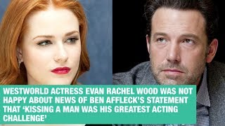 Download Evan Rachel Wood reacts to Ben Affleck's comment about kissing a man. Video