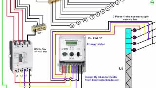 Download 3 Phase Wiring Installation in House | 3 Phase Distribution Board Diagram | Urdu & Hindi Video