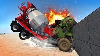 Download CRUSHING CARS WITH SEMI TRUCKS! Crash Testing & Smashing! (BeamNG Drive Mods) Video