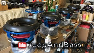 Download Building the HUGE SUBS for the Jeep!!! 6 JVF Customz 3.3 12's Video
