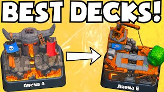 Download Clash Royale BEST DECKS FOR ARENA 4 5 6 | WHICH CARDS TO UPGRADE UNDEFEATED/UNBEATABLE DECK STRATEGY Video