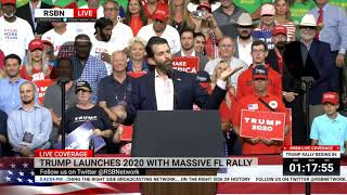 Download 🔴 WATCH: Donald Trump Jr. Delivers EXPLOSIVE Speech at Reelection Rally Video