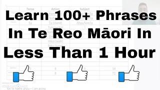 Download Learn to say 100+ sentences in te reo Māori Video