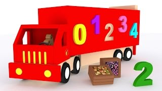Download Trucks for children kids. Learn numbers. Learn to count 1 to 10. Cartoon for babies Video