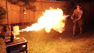Download Liquid Nitrogen Freeze-Ray Vs. Flamethrower Video