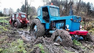 Download 2x T-40 stuck in mud / MTZ helps / Mega Wtopa / Extreme conditions Video