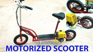 Download Build a Motorized Scooter at home - Using 4-stroke Engine - Tutorial Video