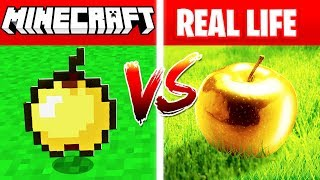 Download MINECRAFT GOLDEN APPLE IN REAL LIFE! (Minecraft vs Real Life) Video