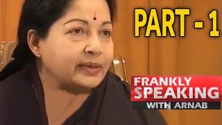Download Frankly Speaking With J Jayalalithaa -1 | Arnab Goswami Exclusive Interview Video