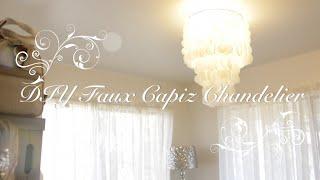 Download DIY Faux Capiz Chandelier Video