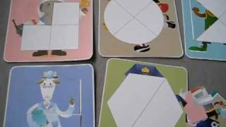 Download Grade 1 - Social Studies activity: Community helpers and Sports clothes shape puzzles. Video
