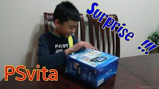 Download surprise PSVita for my son..unboxing too Video