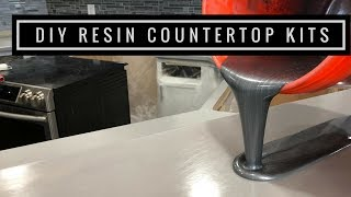 Download Countertop Resurfacing Kits with Metallic Epoxy in Silver, Pearl White and Black Video