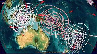 Download 9/23/2018 - Spread of new M5.0+ earthquakes across the Pacific - Keep watch between silent zones Video