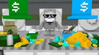 Download Monster School: WORK AT MONEY FACTORY! - Minecraft Animation Video