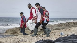 Download Dozens of bodies wash up on Libyan shore Video