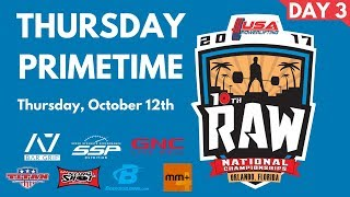 Download Primetime Thursday - 2017 USA Powerlifting Raw Nationals Video