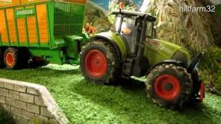 Download RC TRACTORS AT SILAGE HARVEST - part 2 /Awesome rc toy action Video