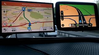 Download 2018 TomTom Go 6200 vs Garmin Drivesmart 61 Voice control test on road. Video