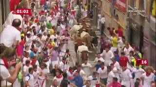 Download SPAIN BULL RUN 2016 DAY 4 PAMPLONA Video