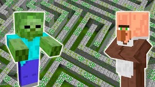 Download VILLAGERS VS. ZUMBIS EM UM LABIRINTO (EXPERIMENTOS MINECRAFT) Video