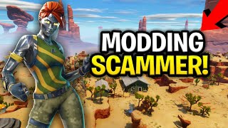 Download Scammer Says He Can MOD My Guns! (Scammer Get Scammed) Fortnite Save The World Video