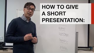 Download Learn how to give a 3 minute presentation in under 3 minutes Video