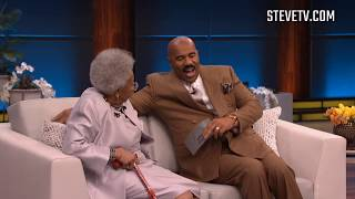 Download Steve Harvey Finally Meets Viral 92-Year-Old 'Black Panther' Star Video