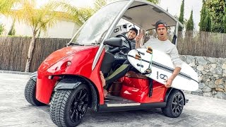 Download GOLFCARTING TO SURFING IN MARBELLA! EPIC!!! | VLOG 337 Video