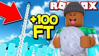 Download BUILDING A 100 FOOT SNOWMAN IN ROBLOX! (Roblox Christmas) Video