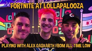 Download Fortnite At Lollapalooza!! Gaming With Alex Gaskarth! - Fortnite Battle Royale Gameplay Video