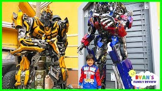 Download Life Size Transformers Optimus Prime and Bumblebee at Universal Studios Amusement Park! Video