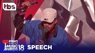 Download Pharrell Gives Chance the Rapper ″Innovator of the Year″ Award: 2018 iHeartRadio Music Awards | TBS Video