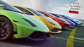Download ¡¡ 5 LAMBORGHINIS DE GTA V EN LA VIDA REAL !! Video