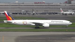 Download Philippine Airlines Boeing 777-300ER RP-C7772 Landing at HND 34L Video