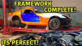 Download Rebuilding A Wrecked 2014 Dodge Viper TA ″TIME ATTACK″ PART 13 Video