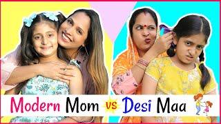 Download Modern Mom (मोम) vs Desi Maa (माँ) .... | #MyMissAnand #Sketch #Roleplay #ShrutiArjunAnand Video