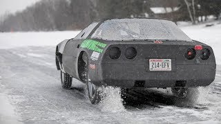 Download Racing a Corvette on ICE - Crazy Ride Along!! Video