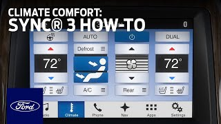 Download SYNC 3 Climate Comfort Adjustments | SYNC 3 How-To | Ford Video
