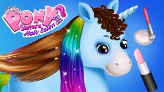 Download Fun Animal Horse Care - Pet Animal Pony Hair Salon Dress Up Makeover App For Kids Video