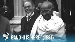 Download Mahatma Gandhi Arrives in the U.K. (1931)   British Pathé Video