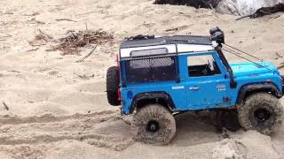 Download RC Scale Crawler 4x4 - Land Rover LR3 & D90 Sand Creek Trail Video