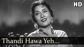 Download Thandi Hawa Yeh Chandni Suhani - Jhumroo Songs - Kishore Kumar - Madhubala - Filmigaane Video