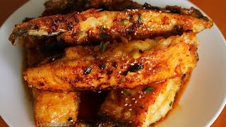 Download Seasoned pan fried flatfish (Gajami yangnyeom-twigim: 가자미 양념튀김) Video