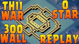 Download TH11 ANTI 1 STAR WAR BASE+REPLAY'S | TH11 300 WALLS | BOMB TOWER COC| Video