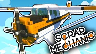Download Scrap Mechanic CREATIONS! - THE BEST PLANE EVER?!! [#20] W/AshDubh | Gameplay | Video