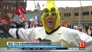 Download College football fans enjoy Big 10 festivities Video