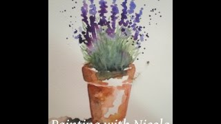 Download You can paint this 'Pot of Lavender', in watercolours, in 10 minutes. Learn more goo.gl/f8msrD Video