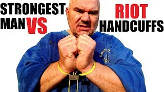 Download World's Strongest Man VS Riot Textile Handcuffs + Extreme World Record Video
